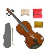 "Merano 16"" Hand Made Solid Wood Viola,Case,Bow+2 Sets Strings,2 Bridges,... - $90.00"