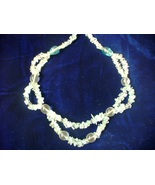 Shanrocks Blue Topaz & Quartz 2 Level Necklace - $28.00