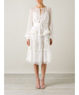 9207$  AMAZING GIVENCHY LAYERED OFF WHITE WEDDING GOWN  DRESS  34 FR 38 IT - $2,754.25