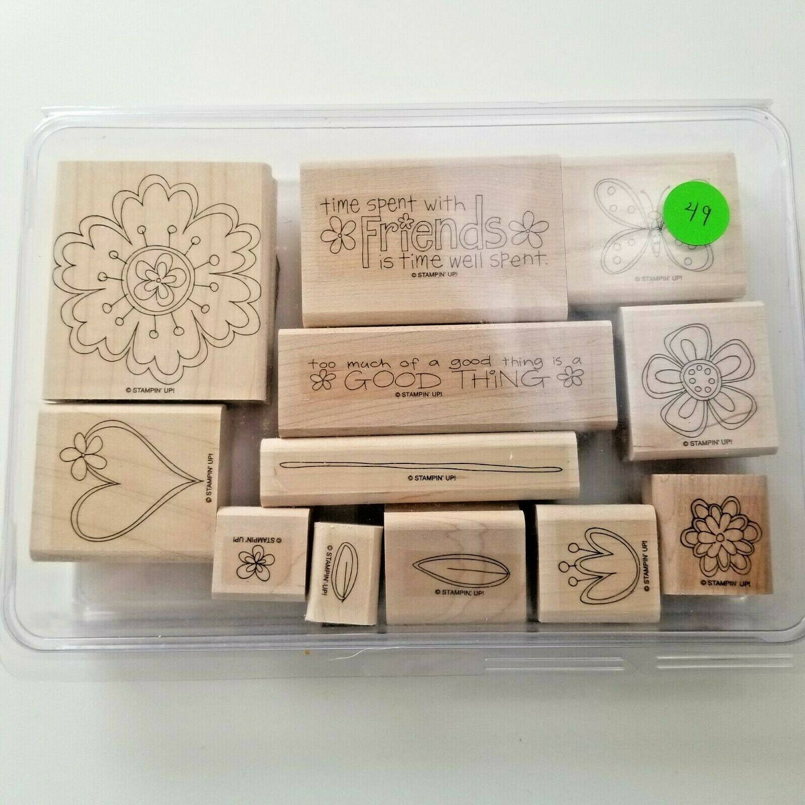Primary image for Stampin Up Time Well Spent Stamp Set EUC 12 Stamps