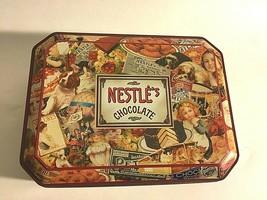 "Vintage Nestle's Chocolate 1999 Nostalgia ""Victoriana""Collector Tin 8.5""... - $10.64"