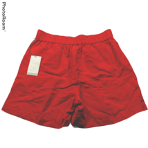 NWT A New Day Womens Mid Rise Linen Pull On Shorts Size XS Red Pockets - $22.77