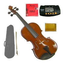 "Merano 16"" Hand Made Solid Wood Viola,Case,Bow+2 Sets Strings,Bridge,Ros... - $100.00"