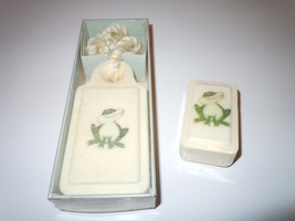 FRENCH MILLED FROG SOAP ON ROPE,SMALL HAND SOAP SUBTLY SCENTED W/TOUCH O... - $8.99