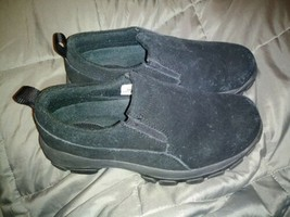 EUC Womans LANDS END Black Slip On Shoes Size 6 HB 86168 Very Comfortable Nice - $16.82