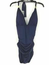 Calvin Klein Shirred One-Piece Swimsuit, Size 16, MSRP $98 - $37.39