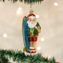 Surfer Santa Holiday Ornament Glass - $39.76