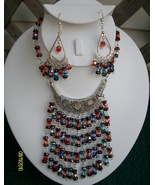Czech Glass  Necklace and Earring  Set   (K 1) - $19.95