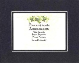 [Motivational Sayings] - 4 Steps to Accomplishment. . . 8 x 10 Inches Sayings... - $10.95