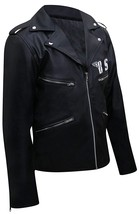 BSA George Michael Faith Rockers Revenge Biker Black Leather Jacket image 3