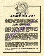 Rules In A Leonberger's House - $20.70