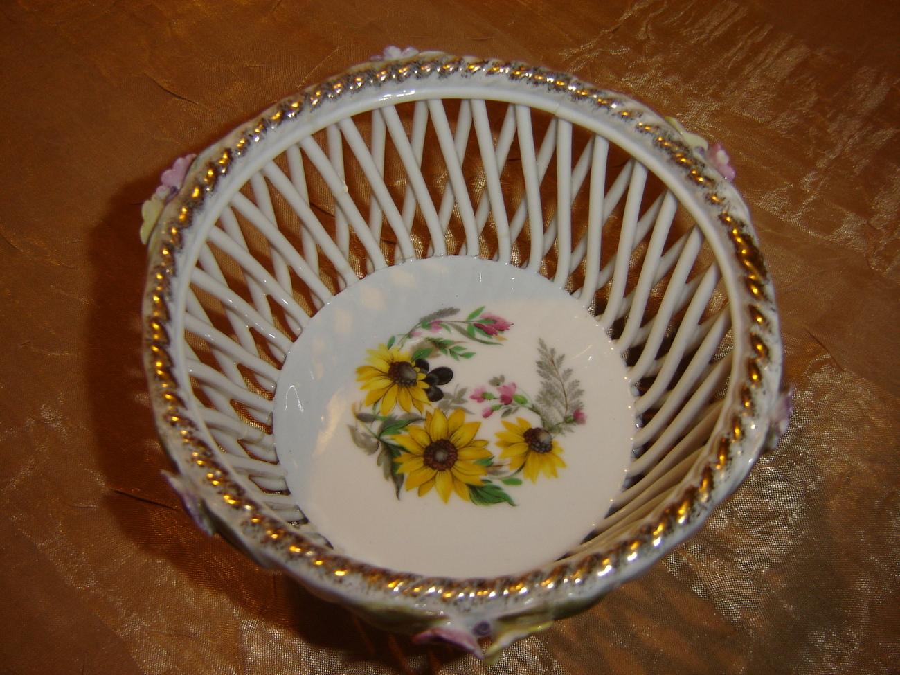 Handmade Weave Lace Porcelain Bowl