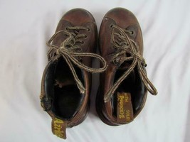 Vintage Dr Martens Sz 4 Brown Ankle Boot Air Wair See Photos Made in Eng... - $18.99