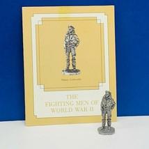 Franklin mint fighting men World War II ww2 WWII pewter figurine Major L... - $28.98