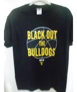 Mens USC Trojans Football T-Shirt Black Out the Bulldogs Medium Fight On - $15.95