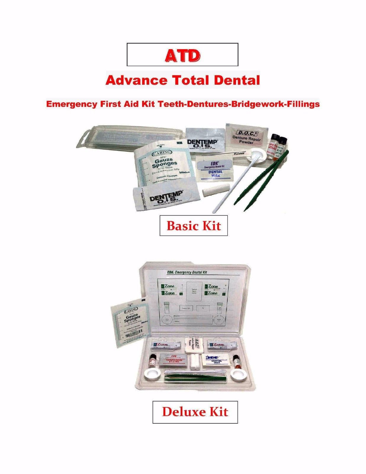 Primary image for Advance Total Dental Emergency First Aid Kit Teeth-Dentures-Bridgework-Fillings