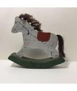"Folk Art Cut Wood Rocking Horse 8.75"" Tall - $12.59"