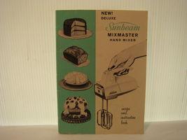 SUNBEAM MIXMASTER HAND MIXER RECIPE & INSTRUCTION MANUAL 1960 - $12.95