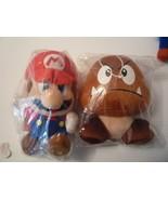 "Vintage Super Mario 7"" Plush Running Mario+ big 6"" Goomba Soft Toy USA 2006 - $14.85"