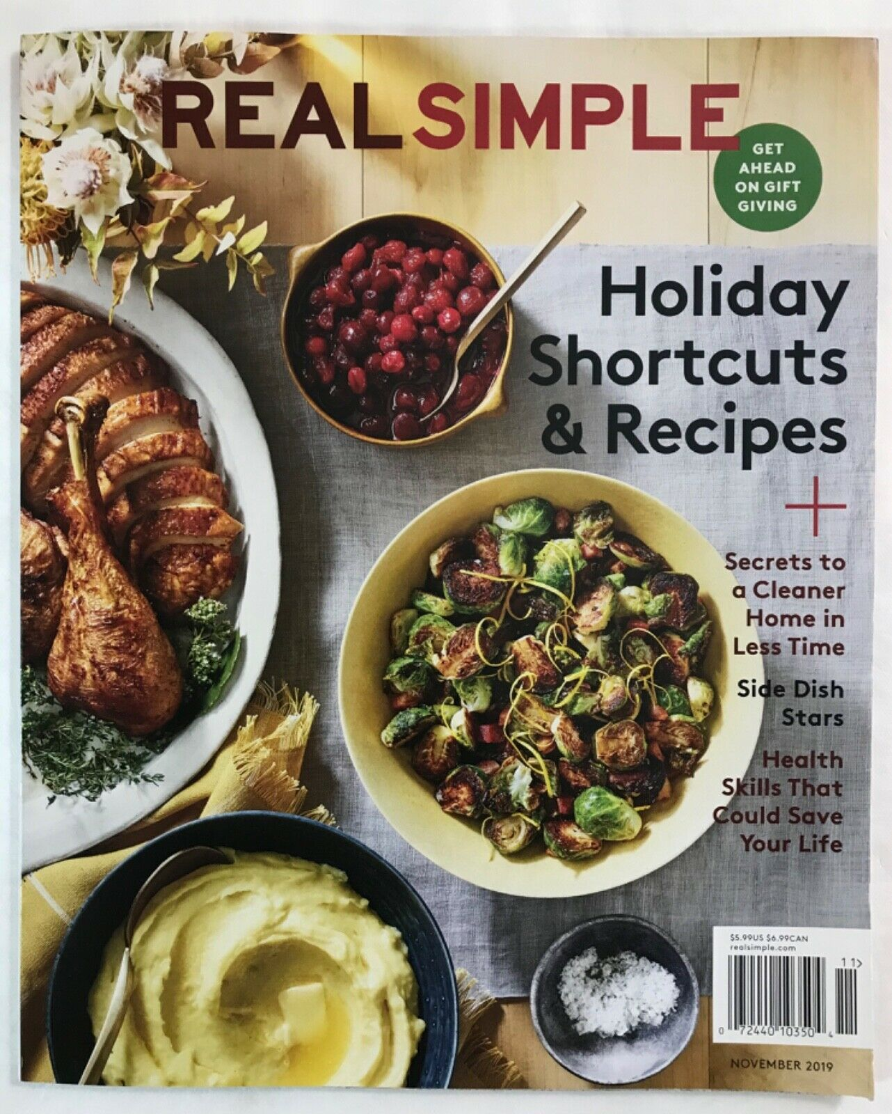 Primary image for Real Simple a magazine about cooking and homemaking & lifestyle:  NOVEMBER 2019