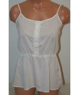 "KENSIE Medium Cami Top Blouse Spaghetti Strap Cream Chest:33"" Camisole W... - $9.75"