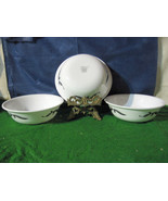 """(3) Corelle Lyrics (Black&White) Coupe Cereal 6 1/4"""" Bowls DISCONTINUED - $5.00"""