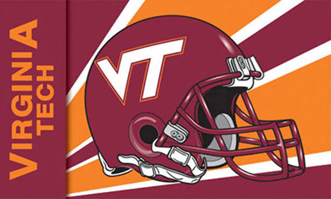 Virginia tech hokies helmet cross stitch pattern