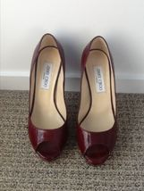 Jimmy Choo Red Leather Pump   Size 38 - $250.00