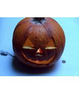 "VTG 1993 TRENDMASTERS Lighted 9"" Halloween Pumpkin Foam Blow Mold Jack-O... - $44.53"