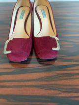 EUC PRADA Suede Wine Purple Pumps 2'' Heel Made in Italy image 3