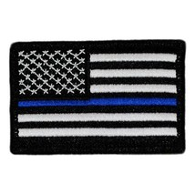 "BuckUp Tactical Patch Hook US Flag USA Thin Blue Line Forward 3x2"" - $3.56"
