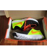 BNIB Nike Flex Experience 5 (GS) Boy's Shoes, 5Y, black/total orange/vol... - $42.08
