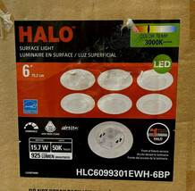 HLC 6 in. 3000K Integrated LED Recessed Light Trim (6-Pack) by HALO - $42.32