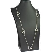 Dress wear costume jewellery long length fitting matte silver colour hea... - $15.78