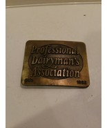 1982 Doboy Professional Dairyman's Association Belt Buckle PDA  - $9.95