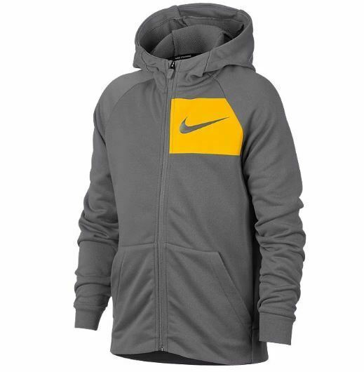 Nike Therma Dri Fit boys red zip front basketball hoodie jacket size L $65 NWT