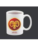 New Ceramic White Printed Zodiac Sun-Sign Aries Coffee Mug 11 Oz for X'm... - $15.83