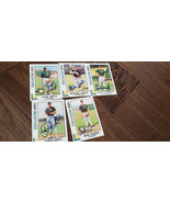 1989 BEST MEDFORD ATHLETICS A'S SIGNED 5 CARD LOT SMITH CONTE SCHOCKEY G... - $11.99
