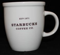 Starbucks Coffee 2006 White Estd 1971 16 oz Coffee Tea Mug Cup - $30.72