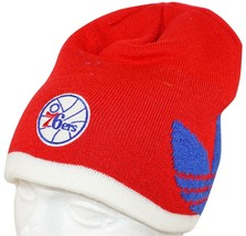 ADIDAS PHILADELPHIA 76ERS - RED BEANIE CAP NBA BASKETBALL 2014 NEW - $14.88
