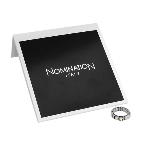 NOMINATION ITALY Ring With 0.65ctw Cubic zirconia Designed in Stainless steel