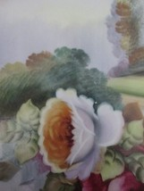 ❤Antique NORITAKE HAND PAINTED BOWL Pink & Red CABBAGE ROSES Pastoral SC... - $24.70