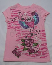 The Childrens Place Girls T-Shirt Top Tee Size XS 4 Pink Print Piece and... - $3.91