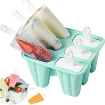 Popsicle Mould,Popsicle Molds 6 Pieces Silicone Ice Pop Molds BPA Free P... - $12.75