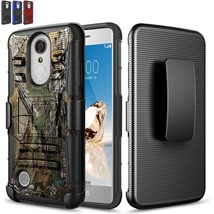 Hybrid Shockproof Case Cover For LG Aristo/ Rebel 2/ Fortune/ K8 Clip Ki... - $9.99