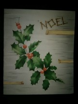Pretty Holly Mistletoe Vintage Christmas Card - $3.00
