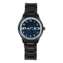 Stainless Steel Round Metal Watch Highest Quality Spacex - $27.49