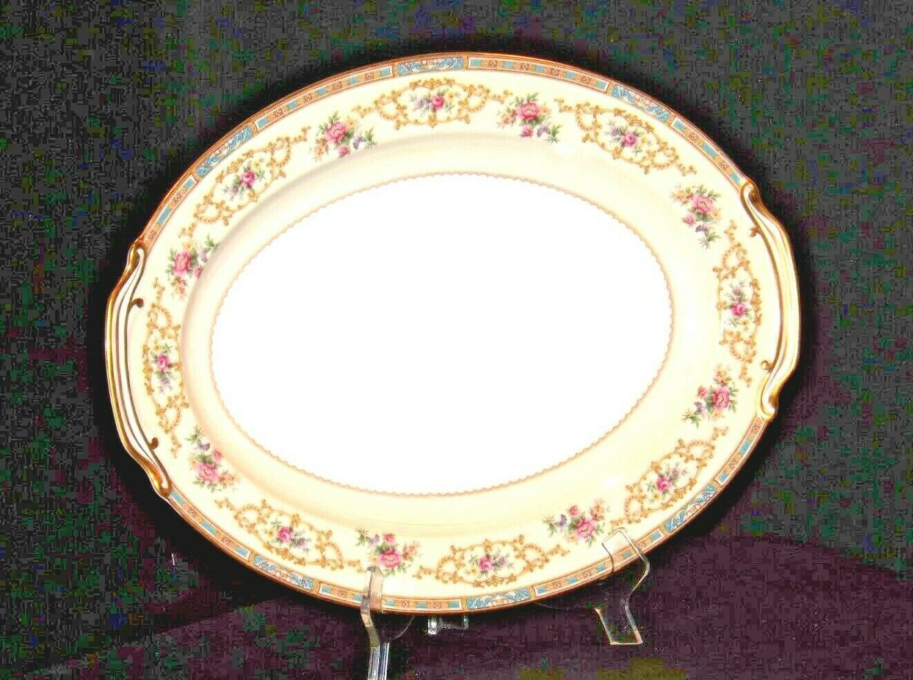 Noritake China Large Serving Platter Japan (Colby Pattern # 5032) AA19-1491 Vin