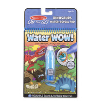 Melissa & Doug On The Go Water Wow! Dinosaurs Reusable Water-Reveal Acti... - $7.65