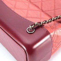 BRAND NEW AUTH 2018 Chanel Pink Gabrielle Quilted Leather Bucket Bag GHW  image 6